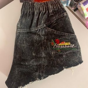 Pants - BayBee Denim Black Shorts